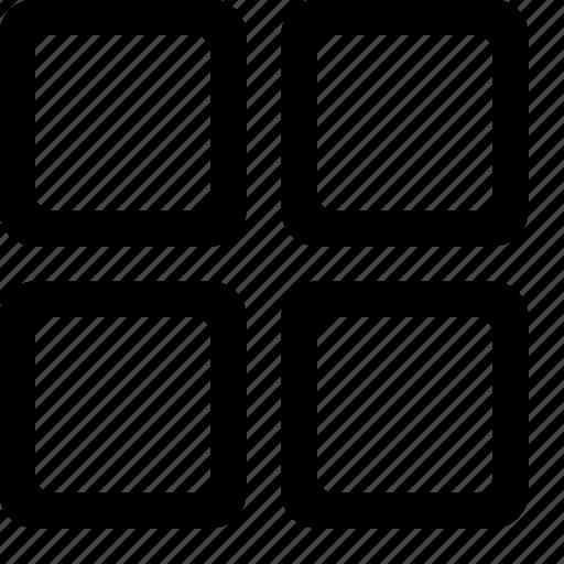 menu, squared, squares, thumbnail, thumbnails, tiles icon