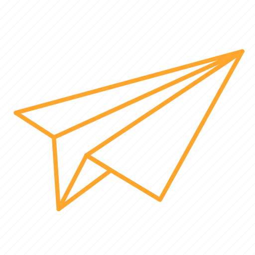 e-mail, mail, paper, paper airplanes, plane, 飞机 icon