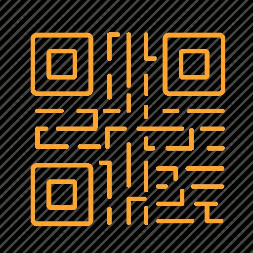data, mark, matrix, qr, qr code, two-dimension code, 二维码 icon