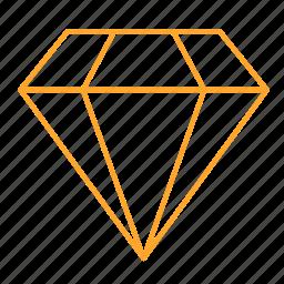 diamond, diamonds, gem, gemstone, jewel, right, symbol, 钻石 icon