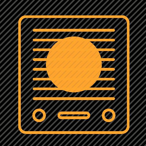 blaster, recorder, sound, sound recorder, tape player, 录音机 icon