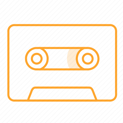 audiotape, cassette, cassette tape, tape, 录音带 icon