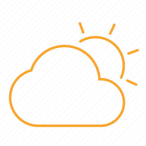 clouds, mood, sun, time, weather, 天气 icon