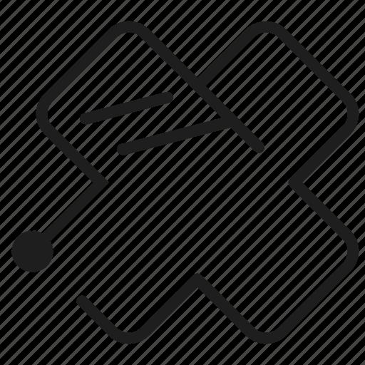 charity, delete, line, x icon