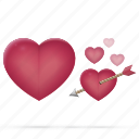 arrow, health, heart, love, medical, relations, valentine icon