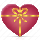 bow, gift, health, heart, love, medical, present icon