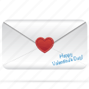 heart, letter, love, message, postcard, romantic, valentine icon
