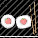 food, heart, japanese, love, restaurant, sticks, sushi icon