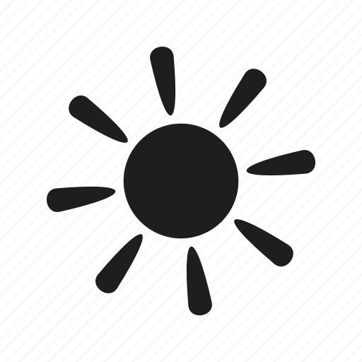 sanny, shape, sign, sun, weather icon