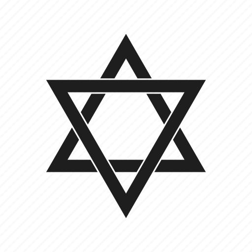 creative, hexagram, shape, sign, star, star of david icon