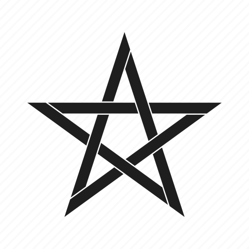 creative, pentacle, pentagram, shape, sign, star icon