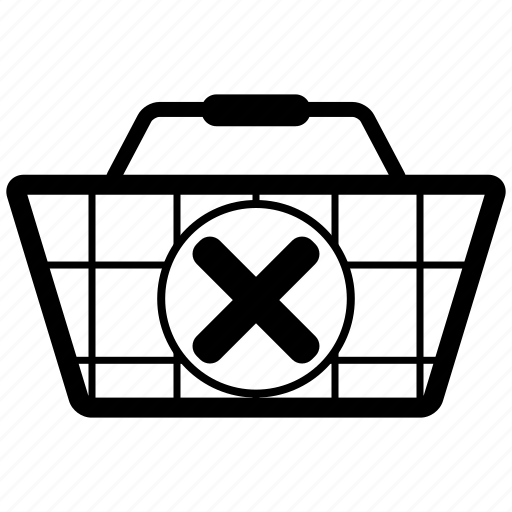 bag, basket, buy, cart, commerce, delete, ecommerce, remove, sale, shipping, shop, shopping icon