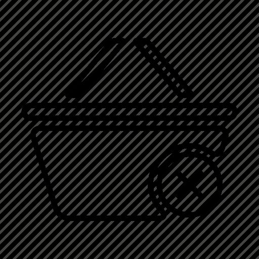 basket, buy, cart, commerce, delete, ecommerce, sale, shop, shopping, store, webshop icon