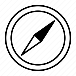 arrow, compass, direction, gps, location, map, marker, navigate, navigation, navigator, north icon