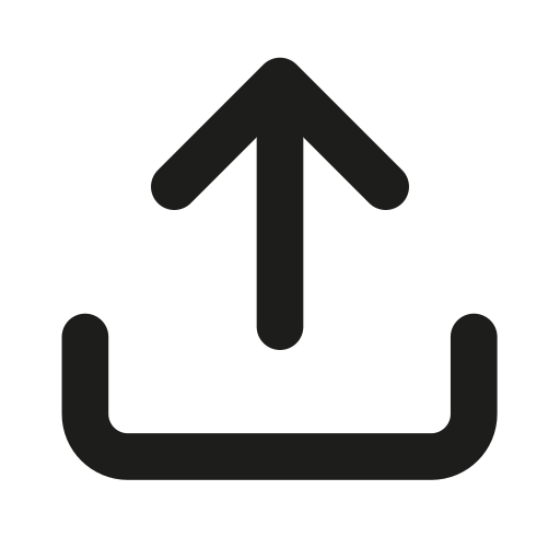 arrow, box, document, outline, share, top, upload icon