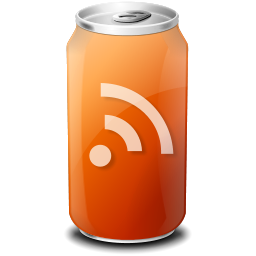 can, drink, feed, rss icon