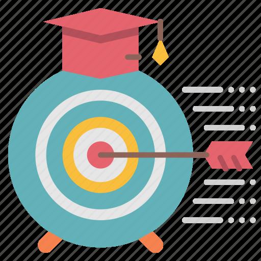 achieve, educational, goal, objective, success icon