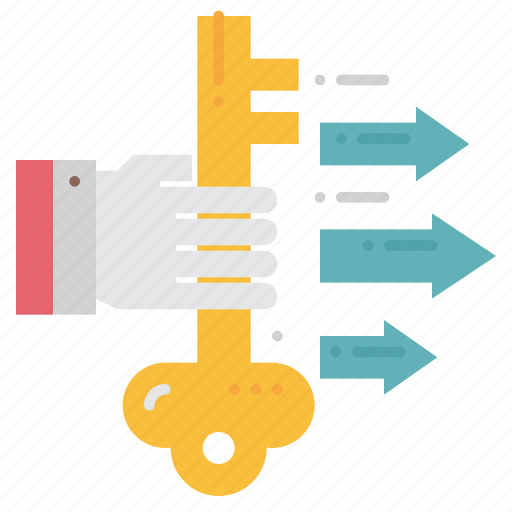 business, factor, key, keyword, ksf, market, success icon