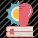 creating, information, knowledge, management, multidisciplinary, process icon