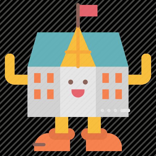 avatar, college, cute, mascot, school icon