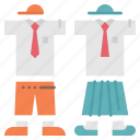 character, clothing, school, scout, uniform icon