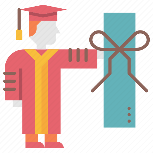 certificate, degree, graduate, student, university icon