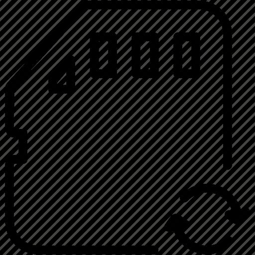 card, data, flash, memory, refresh, sd, storage icon