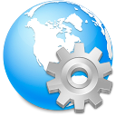browser, earth, global, globe, international, internet, network, planet, service, settings, world icon