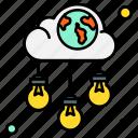 world, idea, innovation, lightbulb, technology