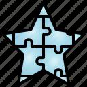 star, asterisk, idea, creative, solution, jigsaw, contacts