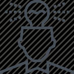 creative, employee, head, idea, lamp, light, solution icon