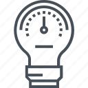 creativity, fuel, idea, lamp, meter, performance, speed meter icon