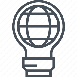 earth, electric, energy, globe, lamp, save the earth, world icon