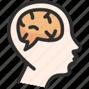 brain, dream, head, mind icon