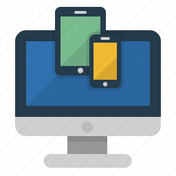 computer, laptop, mobile, monitor, phone, tablet, technology icon