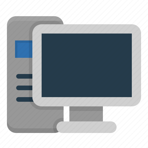 monitor, pc, personal computer, screen, technology icon