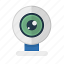 camera, device, technology, video, web camera icon