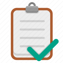 checkmark, checkout, completed, shopping list icon