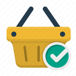 bag, cart, completed, shopping cart icon