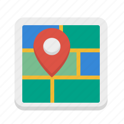 address, location, map, store locator icon