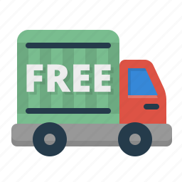 delivery, free, shipment, shipping icon