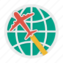 international, par avion, shipment, shipping icon