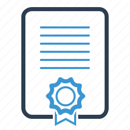 certificate, diploma, file, license, seal icon