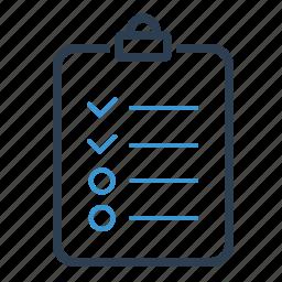 audit, checklist, clipboard, exam, survey, todo list icon