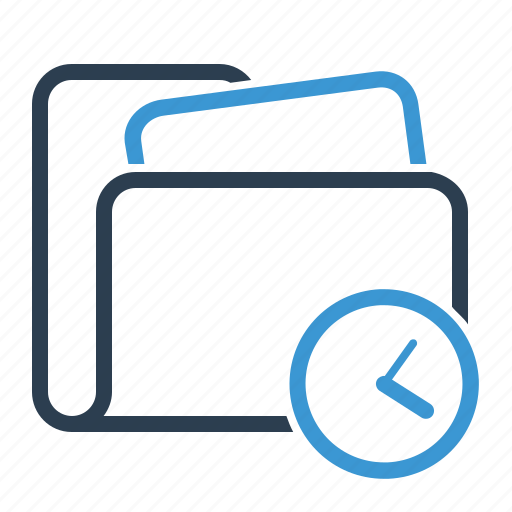 clock, folder, plan, planning, project, schedule, time icon
