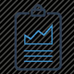 analytics, clipboard, statistics icon