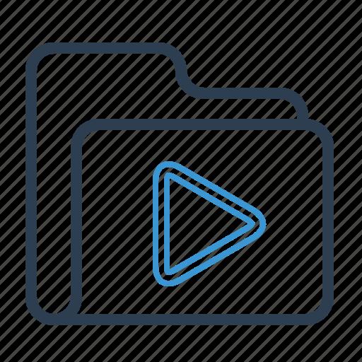 Folder, movie, video icon - Download on Iconfinder