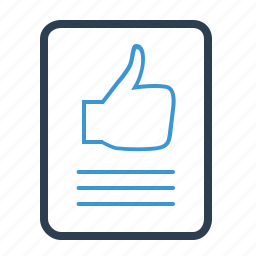 comment, feedback, file, recommendation, thumb up icon