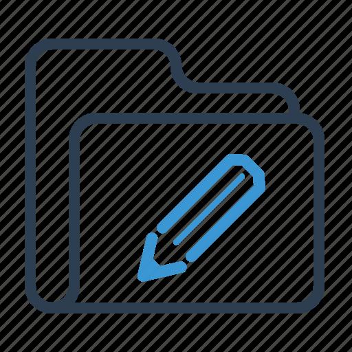 design, edit, folder, pencil icon