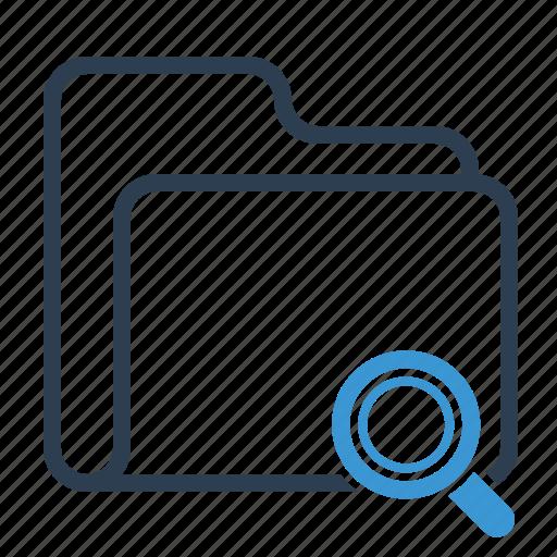 folder, magnifier, search icon